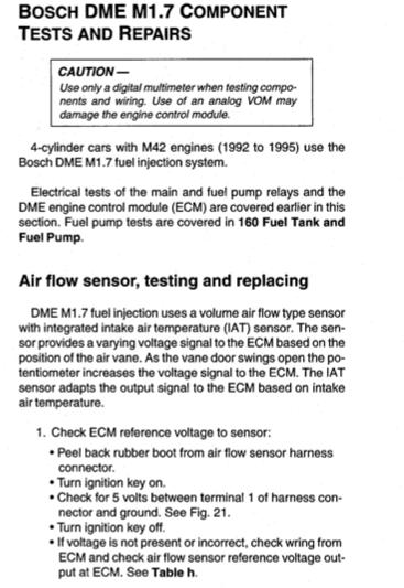 [BMW 318 is E36] Actuateur de ralenti et débitmètre M42debi1
